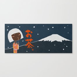 Fuji Tea Time (Night) Canvas Print