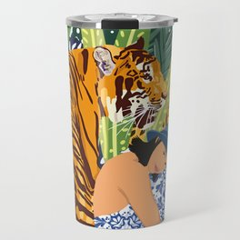 Awaken The Tiger Within #illustration #wildlife Travel Mug