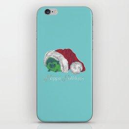 Happy Holiday Hedgehog by Chrissy Curtin iPhone Skin