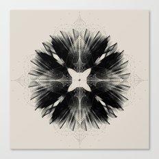 Black Flower Canvas Print