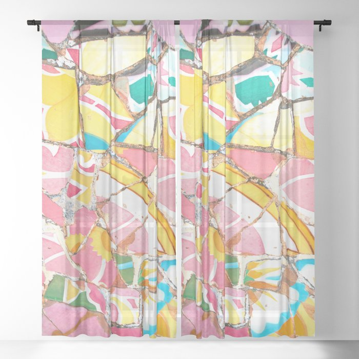 Pretty in Pink Sheer Curtain