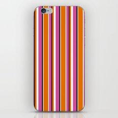 Fun Stripes pink orange iPhone & iPod Skin