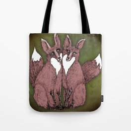 Two Foxes Tote Bag