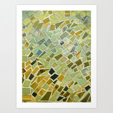 Bright n Sunshiny Day Mosaic Art Print