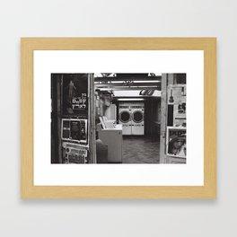 clean laundry Framed Art Print