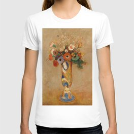 """Odilon Redon """"Wildflowers in a Long Necked Vase"""" T-shirt"""