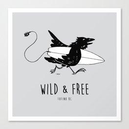 """"""" Surf Raven """" Canvas Print"""