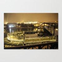 prague Canvas Prints featuring Prague 5 by Veronika