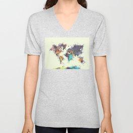 world map 106 #worldmap #map Unisex V-Neck