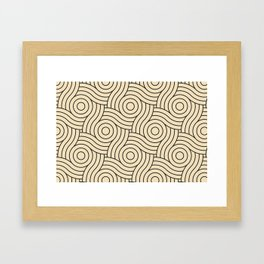 Circle Swirl Pattern Valspar America Wood Yellow - Homey Cream - Glow Home Framed Art Print