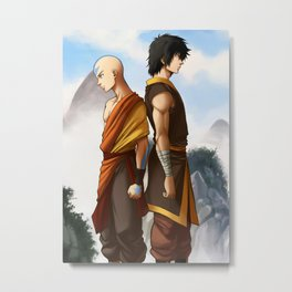 The monk and the prince Metal Print