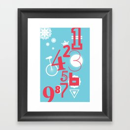 123... Framed Art Print