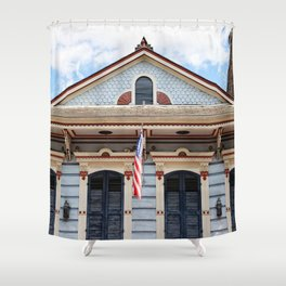 New Orleans American Creole Cottage Shower Curtain