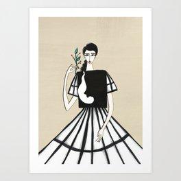 Henri Matisse inspired fashion #2 Art Print