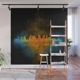 Columbus Ohio, City Skyline, watercolor  Cityscape Hq v4 Wall Mural