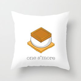 One More S'more Throw Pillow