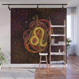 Leo Zodiac Fire element Wall Mural