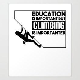 Climbing Bouldering Sport T-Shirt Gift Rock Art Print