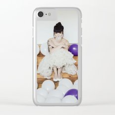 Vintage bubble Clear iPhone Case