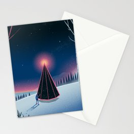 Forest Fire Stationery Cards