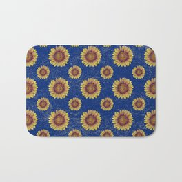 Swirly Sunflower Bath Mat