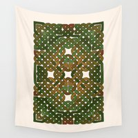 celtic Wall Tapestries featuring Celtic Forest by Draco Anima