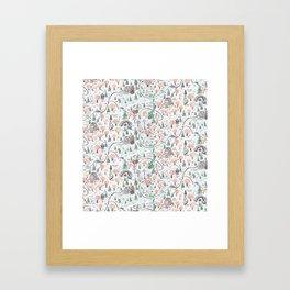 Enchanted Forest Map Framed Art Print
