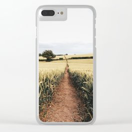Wheat fields in derbyshire Clear iPhone Case