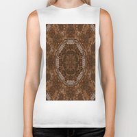 baroque Biker Tanks featuring Baroque Leather style art by Pepita Selles