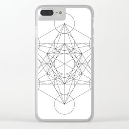 Metatron's Cube Clear iPhone Case