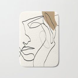 Abstract Face Bath Mat
