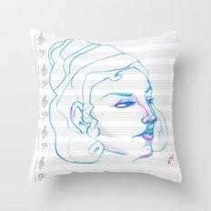 Music to My Eyes Throw Pillow