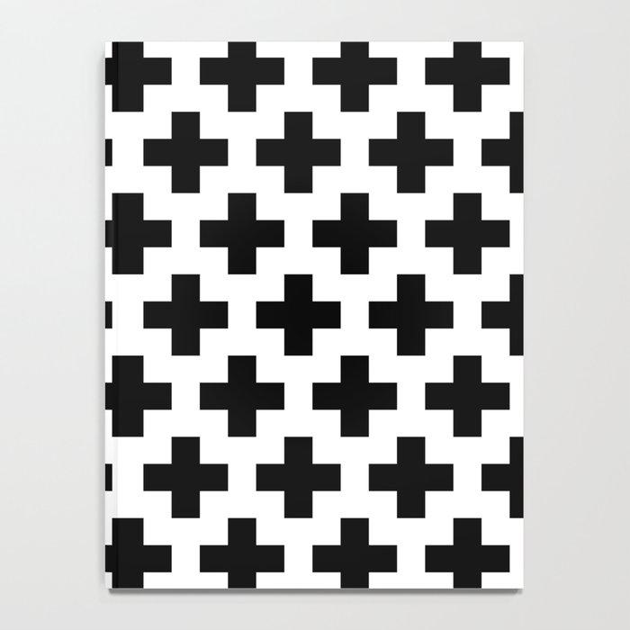 Swiss Cross B&W Notebook