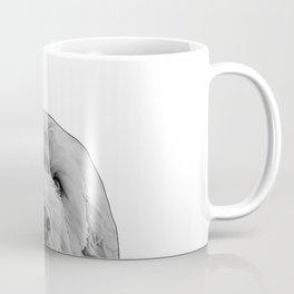 golden doodle b&w Coffee Mug