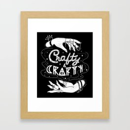 Crafty & Crafty - B&W Framed Art Print