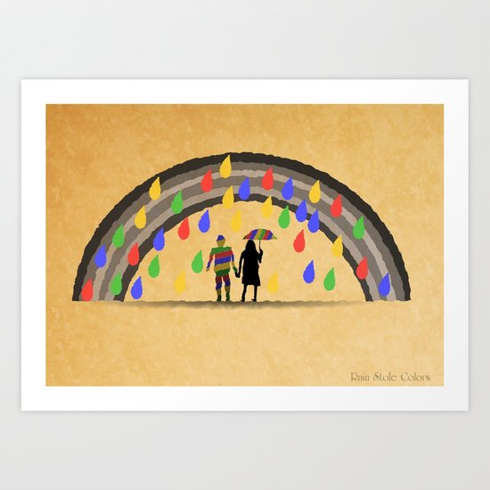 Rain Stole Colors Art Print