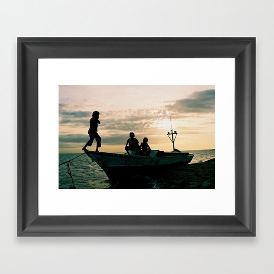 Caribbean Coast Kasusain White Beach Framed Art Print