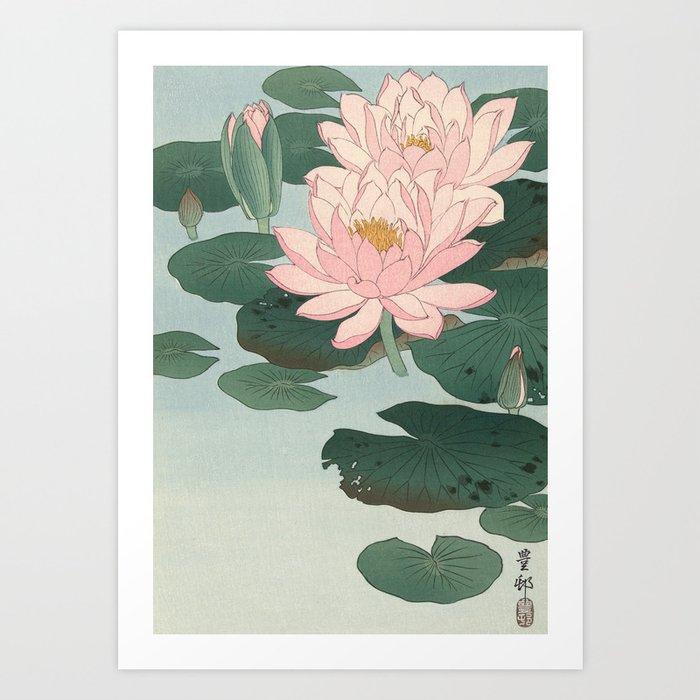 Flowering Water Lily, Ohara Koson Kunstdrucke