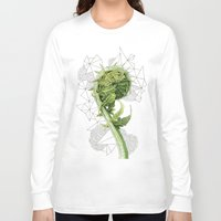 fern Long Sleeve T-shirts featuring Fern by Line Holtegaard