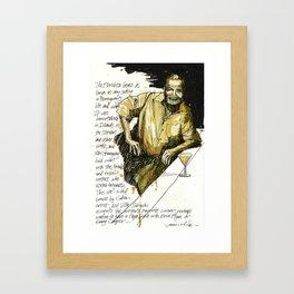 Hemingway Statue in La Floridita, Havana Framed Art Print