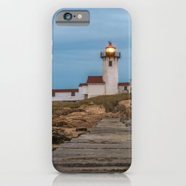 Long exposure of Eastern Point Lighthouse iPhone Case