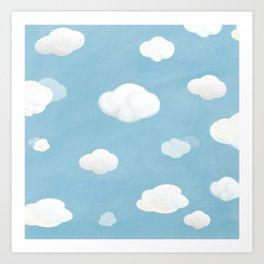 Blue blue sky Art Print