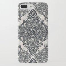 Charcoal Lace Pencil Doodle iPhone 7 Plus Slim Case
