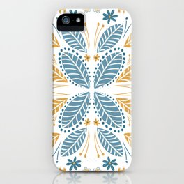 Leaves - White iPhone Case