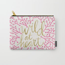Wild at Heart – Pink & Gold Carry-All Pouch