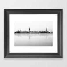 Riga Skyline Framed Art Print