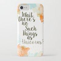 unicorns iPhone & iPod Cases featuring Unicorns by N A N A M I