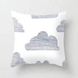 Stripy Clouds Throw Pillow