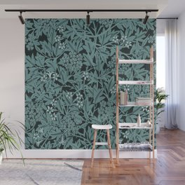 Vintage Blue Lillies Wall Mural