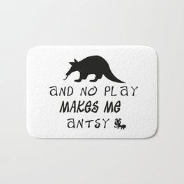 Aardvark & No Play Makes Me... Bath Mat